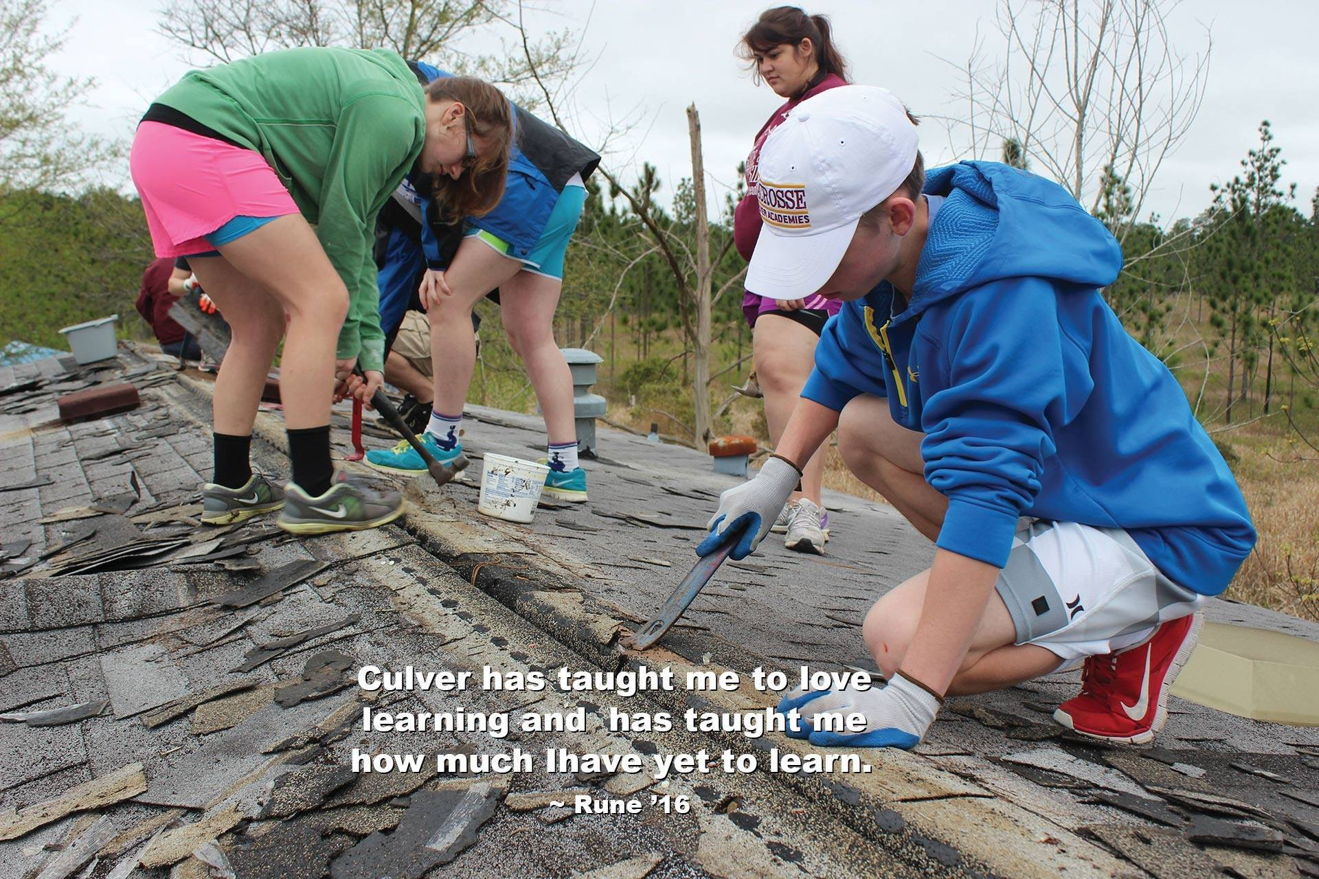 Culver Academies boarding school students participate in a work project